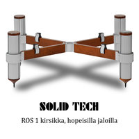 Solid Tech ROS 1 hopeiset jalat