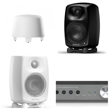 Genelec G Three B, Genelec F Two B, Yamaha WXC50